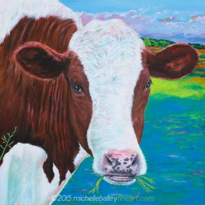 Brown Holstein Cow in a Swedish Pasture - Michelle Bailey