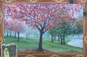 Takoma's Metro Green - Michelle Bailey on exhibit at Art Hop 16 - Roscoe's