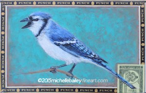 Backyard Blue Jay by Michelle Bailey