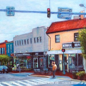 Hello Takoma Park -  Google Street View | original painting sold | prints available on etsy