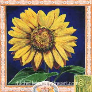 Sunflower Heart Original Painting by Michelle Bailey