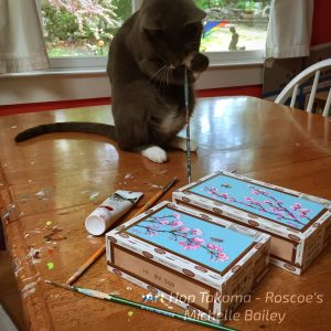 Cats Love Art - Bees & Blossoms by Michelle Bailey