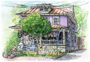Michelle Bailey Takoma Bicycle Watercolor Pen & Ink