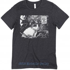 Michelle Bailey Canvas Unisex MODEL Dark-Grey-Heather Chaneling Motor Cat