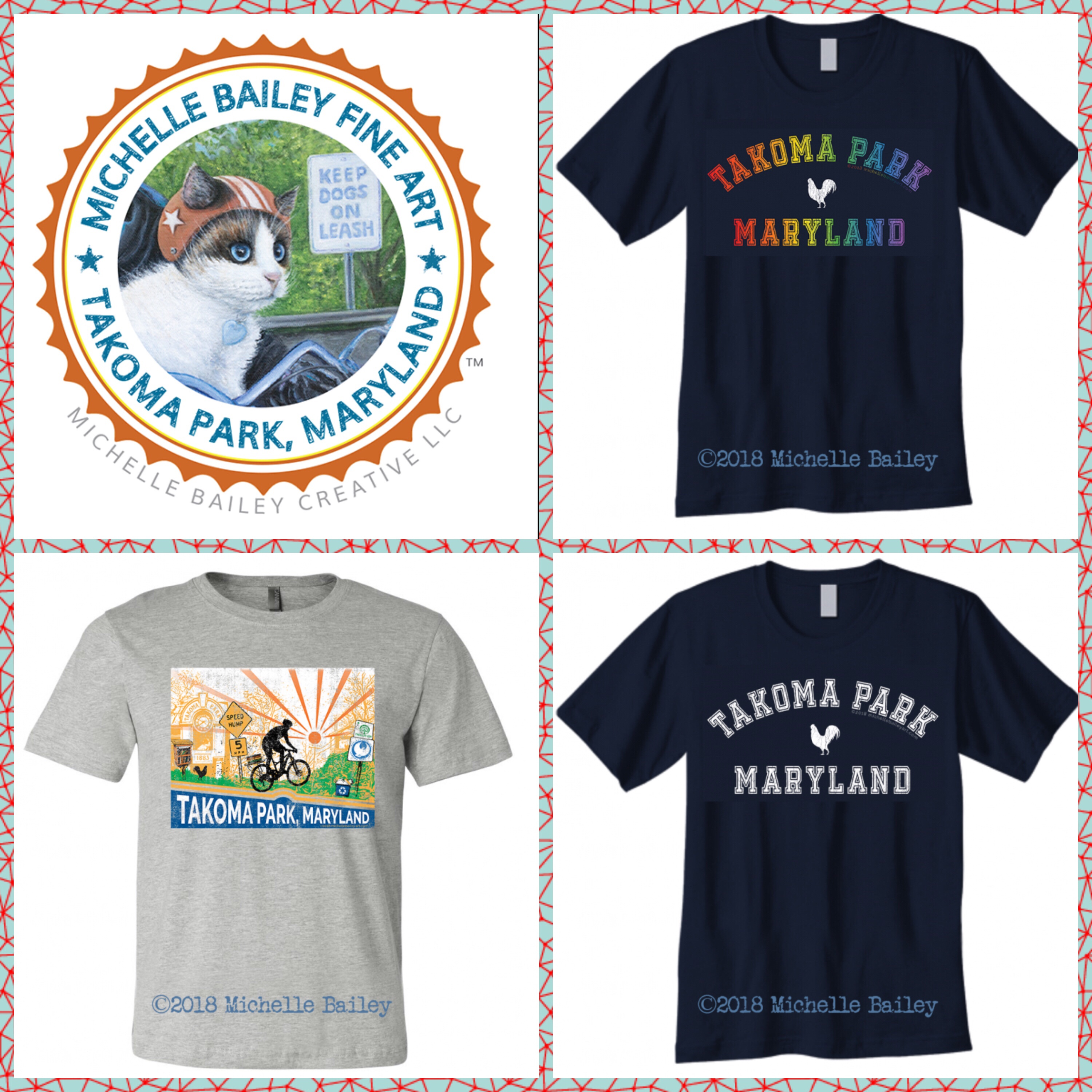 Michelle Bailey Fine Art Takoma Park Tees — 3 New Designs