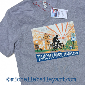 Michelle Bailey Art T-Shirt Model Takoma Park Maryland SpeedHump Bicycle