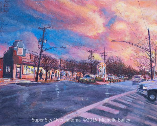 Super Sky Over Takoma by Michelle Bailey