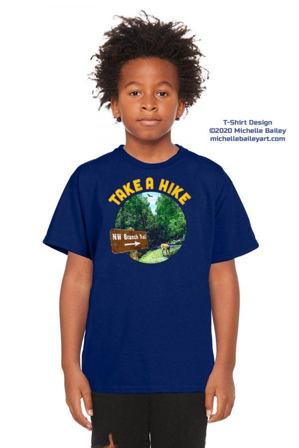 Take a Hike Youth T-shirt model