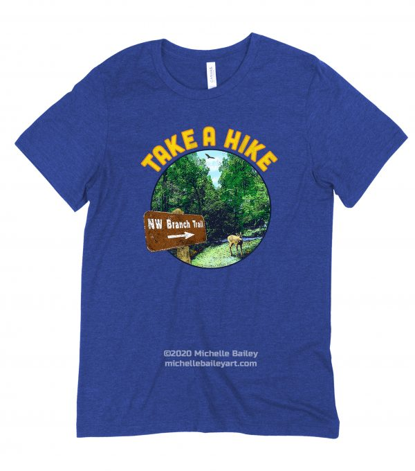 Take a Hike Adult T-shirt model