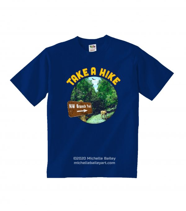 Take a Hike Youth T-shirt model