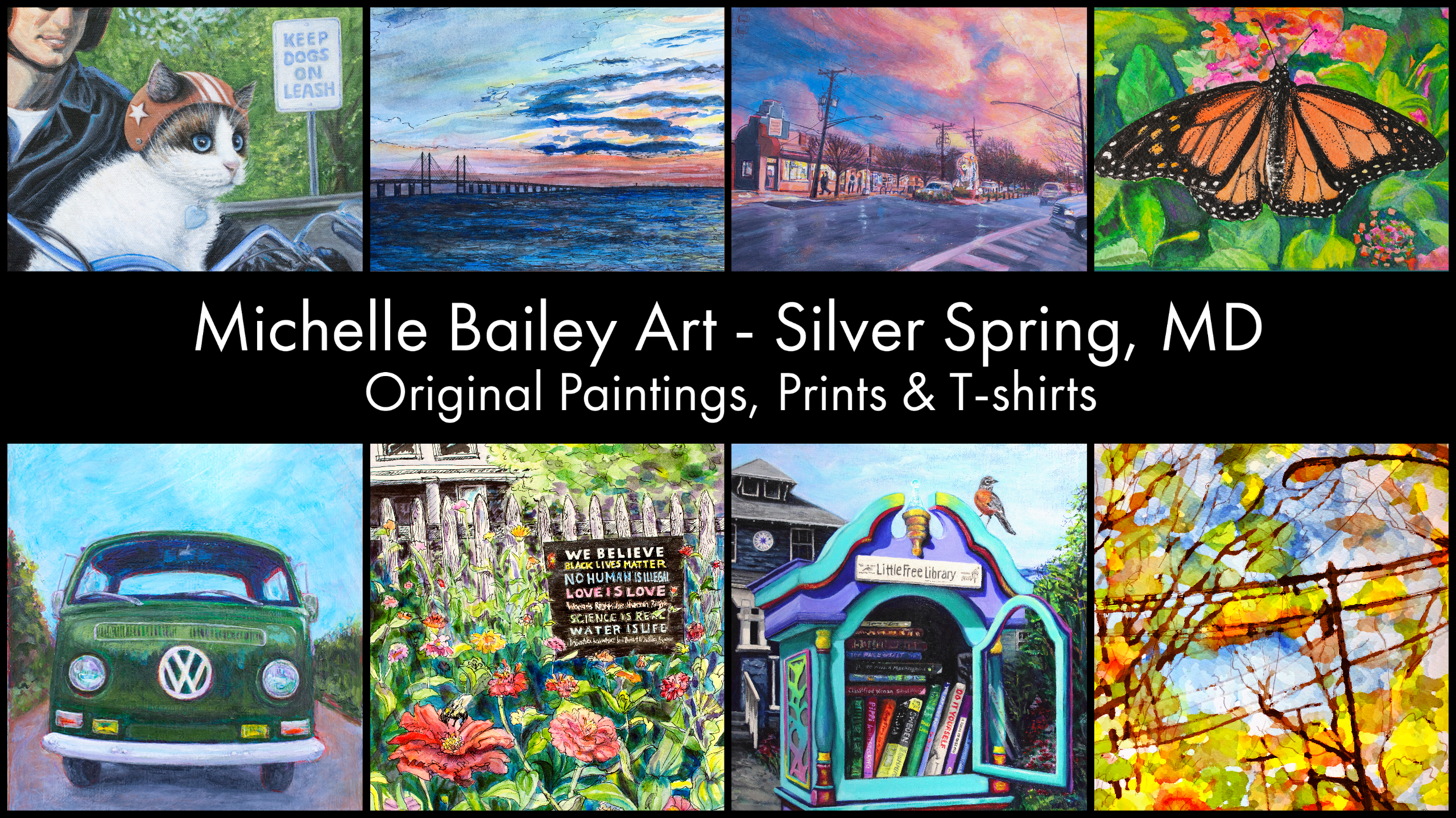 Michelle Bailey Art - Silver Spring, MD - Original Paintings, Prints & T-shirts