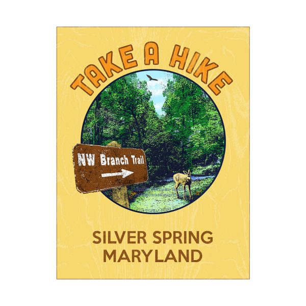 Michelle Bailey Take a Hike NW Branch Trail Matted Print