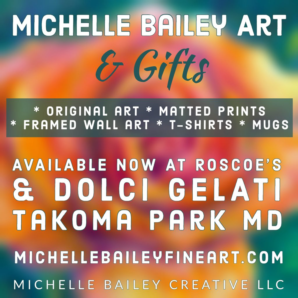 Michelle Bailey Art and Gifts at Roscoe's & Dolci Gelati