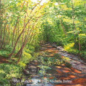 NW Branch Trail Painting by Michelle Bailey