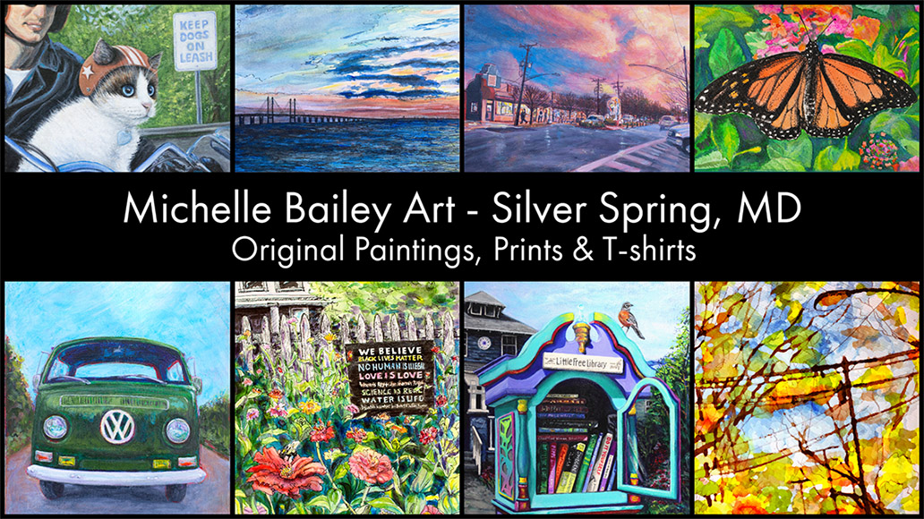 Michelle Bailey Art Silver Spring, Maryland. Original paintings, prints & T-shirts.