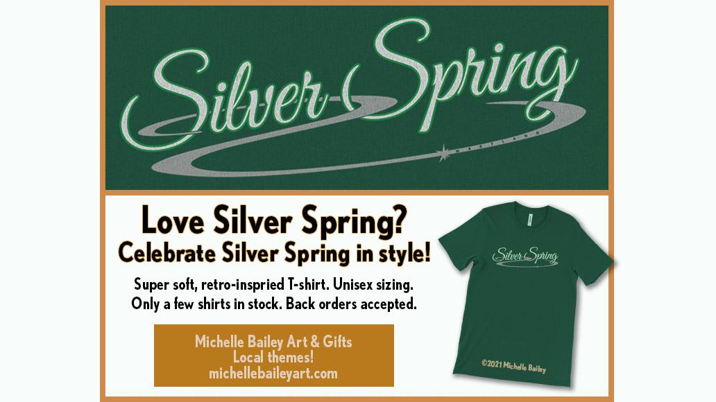 Silver Spring Maryland Unisex-Tshirt-Michelle Bailey Art